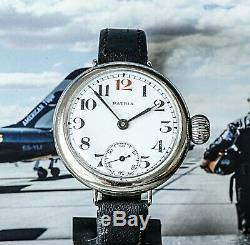 Awesome Omega Patria RFC Pilots Watch WW1 Trench Watch Massive Crown