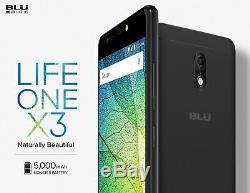 BLU Life One X3 32GB 5.5 4G LTE Dual Sim Android GSM Unlocked L0150WW Black