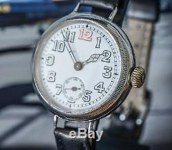 Beautiful Silver Dennison Cased Marvin WW1 Trench Watch The Perfect Trench Watch