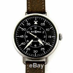 Bell & Ross Brww1-92-s Black Dial S. S. Wwi Heritage Auto On Strap Amazing Cond