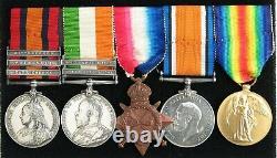 Boer War Medal pair, WWI Gallipoli, KIA Mesopotamia. Worcestershire Regt