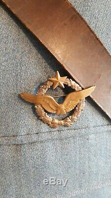 Brilliant Rare WW1 French Air Force Pilot Veterans Tunic Uniform Medal Badge Set