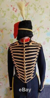 Brilliant WW1 Original Royal Horse Artillery Hussar Tunic Busby Uniform Set