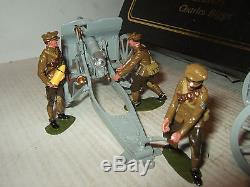 Britains 8912 Premier Series, 4.5 Inch Howitzer & 4 Man Khaki Detachment WW1