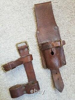 British WW1 1914 pattern Kitchener Leather Equipment Frog & Helve Holder