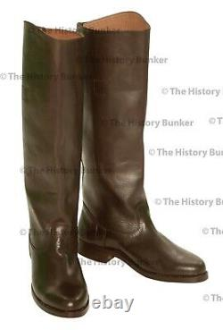 Brown leather riding boots WW1 British officer MADE TO YOUR SIZES