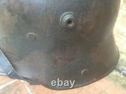 CASQUE ALLEMAND M16 CAMO camouflage peu courent D'ORIGINE helmet helm ww1 German