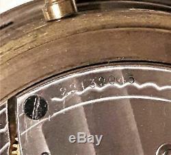 CHRONOMETER/ DECK WATCH'WALTHAM WATCH CO', USA 8 DAY 15 JEWEL c1912