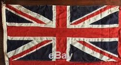 C. 1914-1918 Antique WWI era Canadian 4 Province Red Ensign Flag Canada Vintage