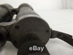 Cased Pair of German WW1 Marine Binoculars Carl Zeiss DF 7X