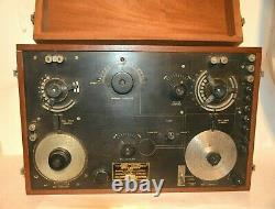 Circa 1917 Nesco Cn-240 Ww1 Wireless Radio Receiver Must See