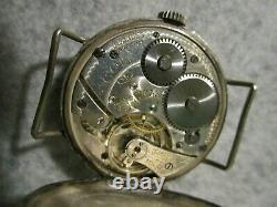 Circa 1917 Swiss Cyma Tavannes Military World War 1 Trench Watch