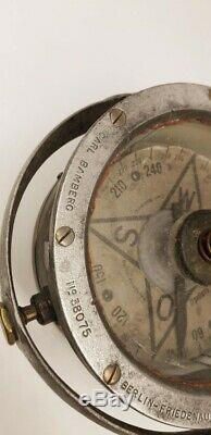 Compass German aircraft 14-18 Carl Bamberg wwi ww1 no altimeter