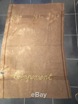 Couverture couvre-pieds français 1913 WW1 poilu tranchée as de carreau 1914 1918