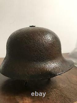 Elmetto Austriaco M17 Berndorfer-1° Guerra Mondiale Ww1-solo Guscio-raro-