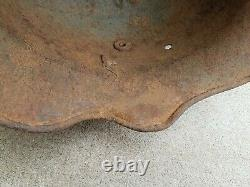 Extremely Rare WW1 German M18 Cut-Out Helmet ET64 with Nice Heat Stamp