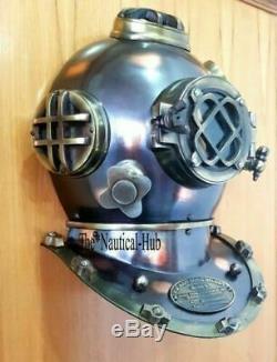 FULLY FUNCTIONAL Mark V Door Knock Decor Helmet Antique Diving Helmet US Navy