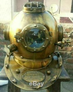 FULL FUNCTIONAL BOSTON Deep Sea US Navy Mark V Diving Marine Scuba Divers Helmet