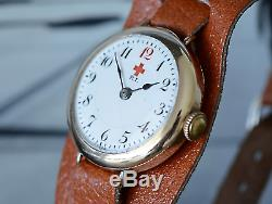 Fabulously Rare WW1 Rolex Red Cross Nurses Trench Watch, The Real McCoy