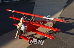 Fokker Dr1 Red Baron Wwi 73 Giant Scale Airplane Aviation