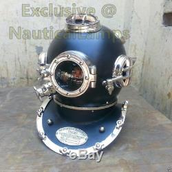 Full 18 Inch Antique Diving Divers Helmet US navy Boston Deep Sea Scuba Decor