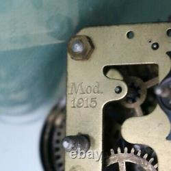 GUSTAV BECKER Alarm Mantel Antique TOP! Clock MUSEUM 1915 WW1 BAUHAUS TRENCH ART