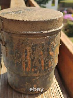 Gasmaskendose Österreich KuK mit Beschriftung Original Farbe 1WK WW1
