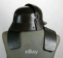 German Armor WW1 Complet Stirnpanzer and M17 Helmet