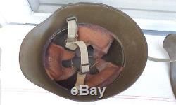 German Austrian Helmet With Brow Plate Stirnpanzer Complet Rare Ww1