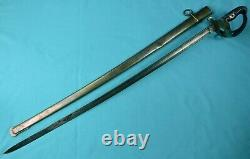 German Germany Antique WW1 Engraved Officer's Sword with Scabbard