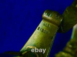 German Germany Antique WW1 Lion Head Ruby Eyes Guard Sword