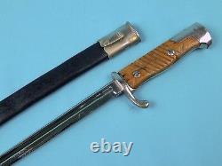 German Germany WW1 Model 1898 Mauser Dress Bayonet Short Sword with Scabbard