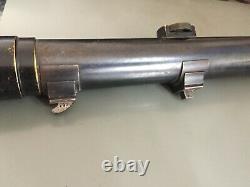 German Sniper Rifle Scope Goerz Berlin CERTAR 4 1/2 WW1 WW2 + Orig. Lens Cover