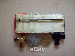 German WW1 Bavarian Medal Bar Rare Combination
