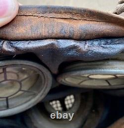 German WW1 M1917 Leather Gas Mask 2J. R & Lots of markings Fully Pliable