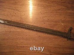 German WW1 Sawback Bayonet Made By Cg. Haenel In Suhl, Germany circa 1897