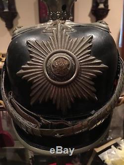 German WW1 pickelhaube Saxony Officer Detachable Spike Rare