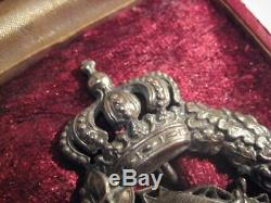 German WWI air force bavarian pilot medal antique badge rare in case Poellath