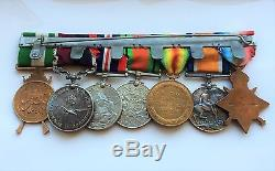 Group of 7 Medals WWI/WWII + Long Service Sergeant Major Hinds RFC/RAF