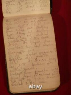 Highly Sought After Historic Ww1 Soldiers Note Book Diary April 1916-august 1917