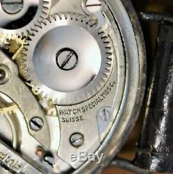 Historical 1918 WW1 Watch Specialties Trench Watch 15j Sterling Silver