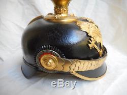 Imperial German Pre Wwi Prussian Infantry Officers Pickelhaube Spiked Helmet