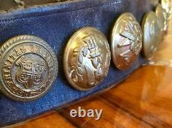 Imperial German WW1, Prussian Souvenir/Hate Belt & M1895 Buckle with21 Buttons