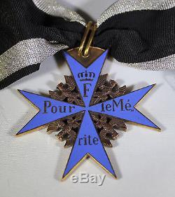 Imperial German World War I Pour Le Merite Blue Max Neck Order Decoration