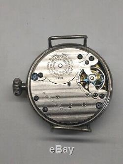 Ingersoll Midget WW1 Officers Trench Watch Black Dial Radiolite Wrist Ticks