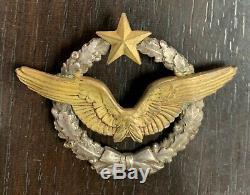 Insigne brevet de pilote original WW1 original numéroté B 10173