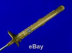 Japanese Japan WW1 WW2 Kyu Gunto Katana Officer's Sword with Scabbard