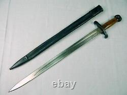 Japanese Japan WWI WW1 Antique Old Short Artillery Sword with Scabbard