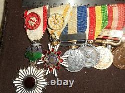 Japanese Medal Bar 9 place WW 1-2 eras