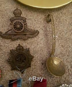 Joblot of WW1 & WW2 medals and collectable other militaria items